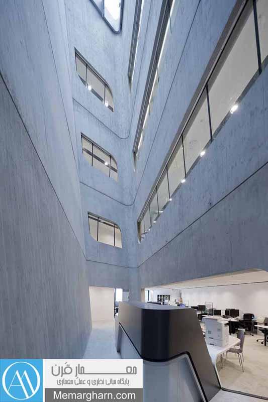 معماری داخلی کتابخانه مرکزی دانشگاه