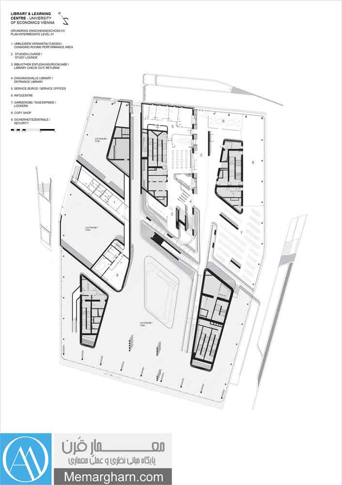 پلان کتابخانه مرکزی دانشگاه