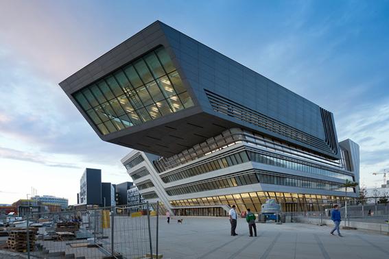 کتابخانه مرکزی دانشگاه اقتصاد واقع در اتریش