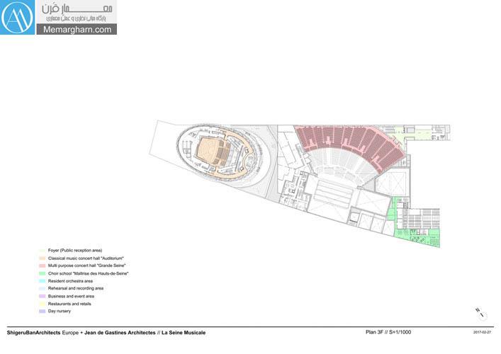 پلان معماری سالن همایش