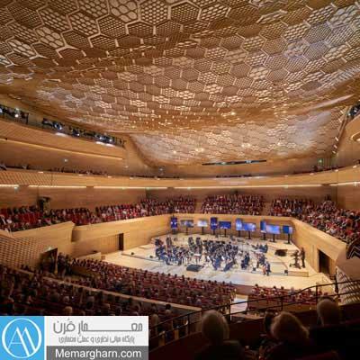 سالن همایش معماری داخلی تالار موسیقی لاساین فرانسه اثر شیگروبان