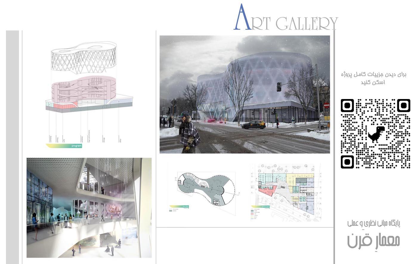 طراحی گالری و موزه نقاشی