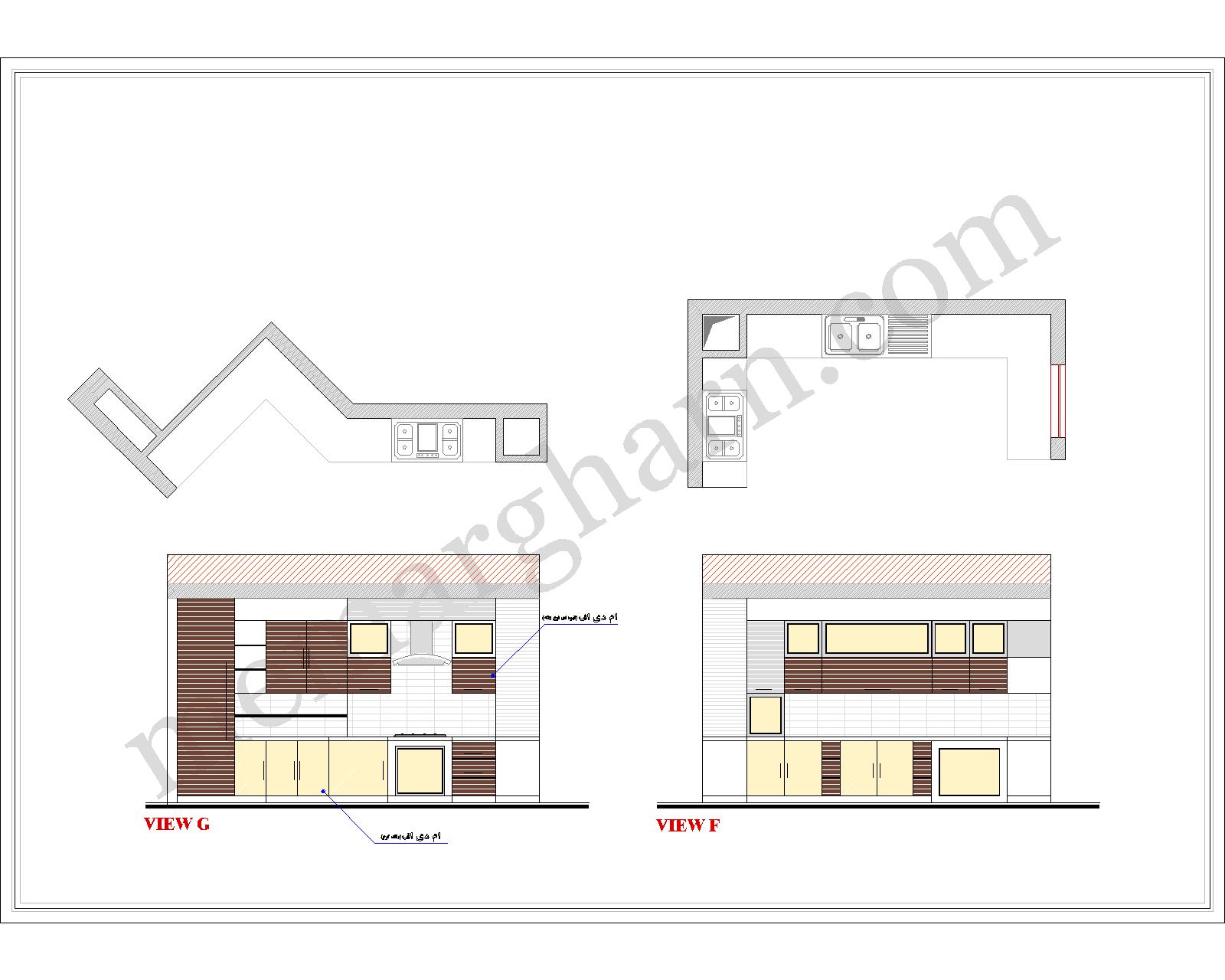 طراحی آشپزخانه طبقه همکف