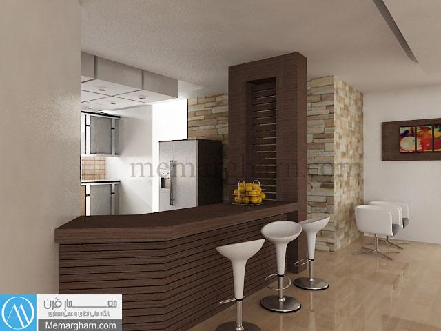 طراحی داخلی اپن آشپزخانه