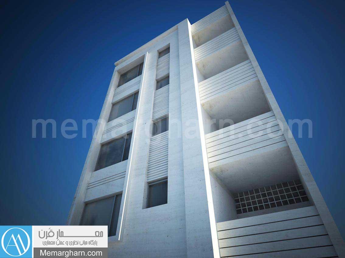 نمای ساختمان مسکونی عرض 9