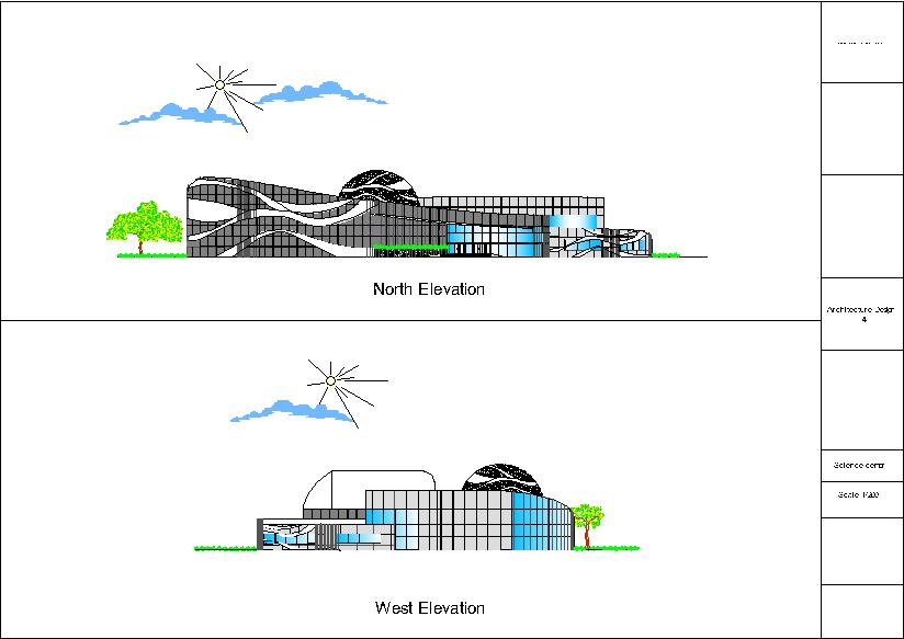 نمای شمالی و غربی پارک علم و فن آوری