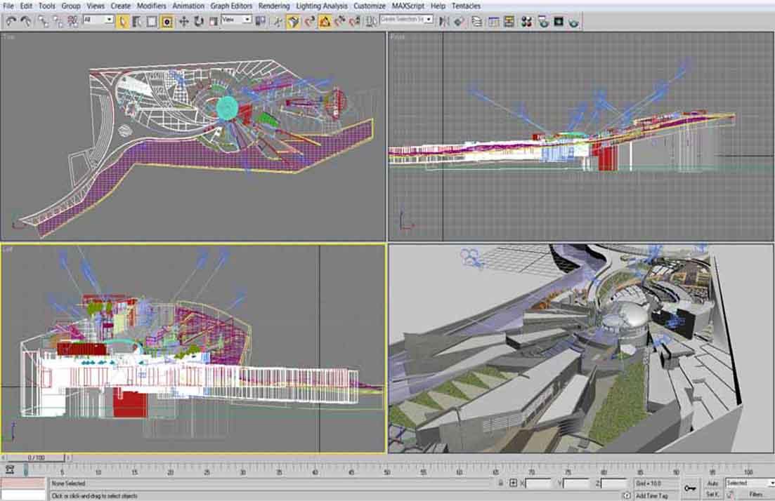 اسکرین شات از فایل تریدی مکس پروژه