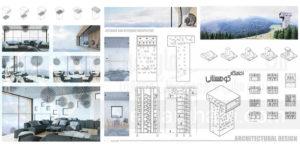 پروژه طرح معماری اقامتگاه کوهستانی