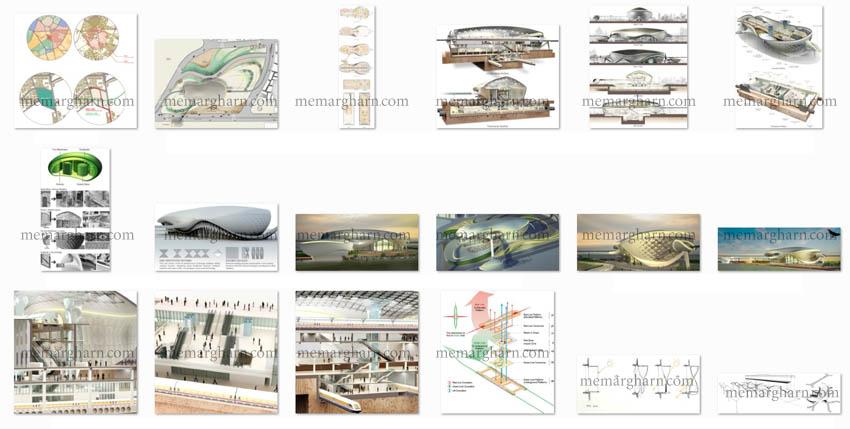 مدارک پروژه معماری ایستگاه مترو