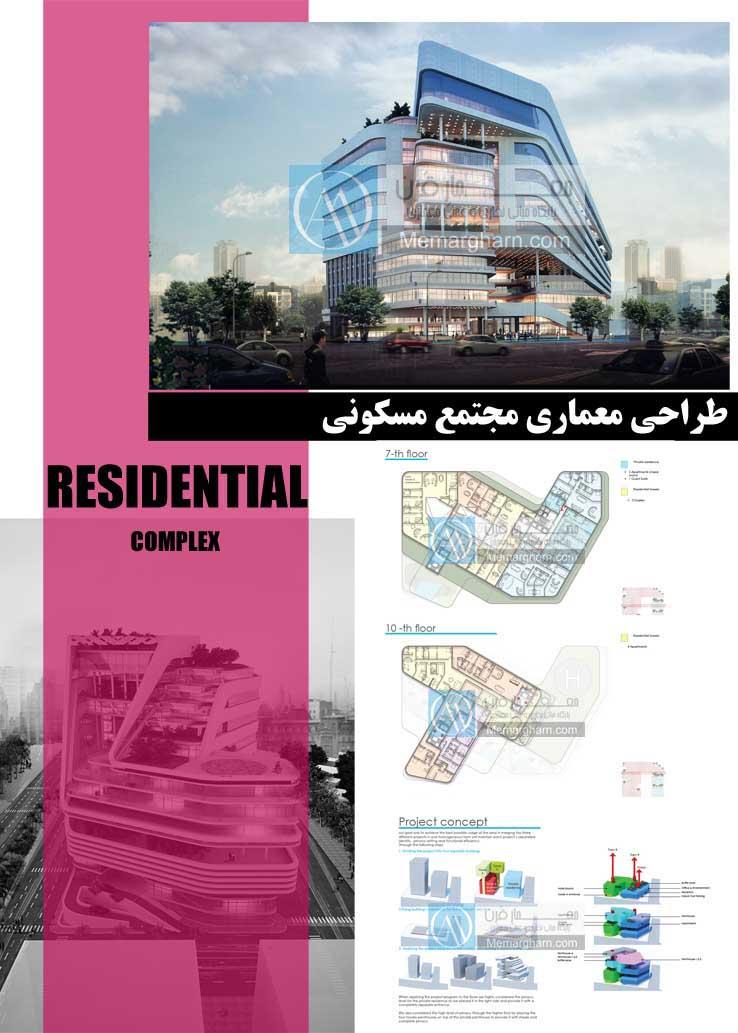 شیت بندی طراحی مجتمع مسکونی با رویکرد استفاده از بام سبز در معماری