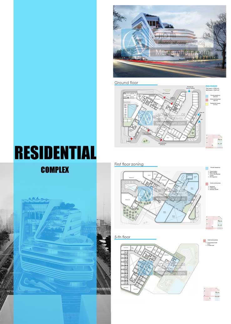 شیت بندی مجتمع مسکونی با رویکرد استفاده از بام سبز در معماری