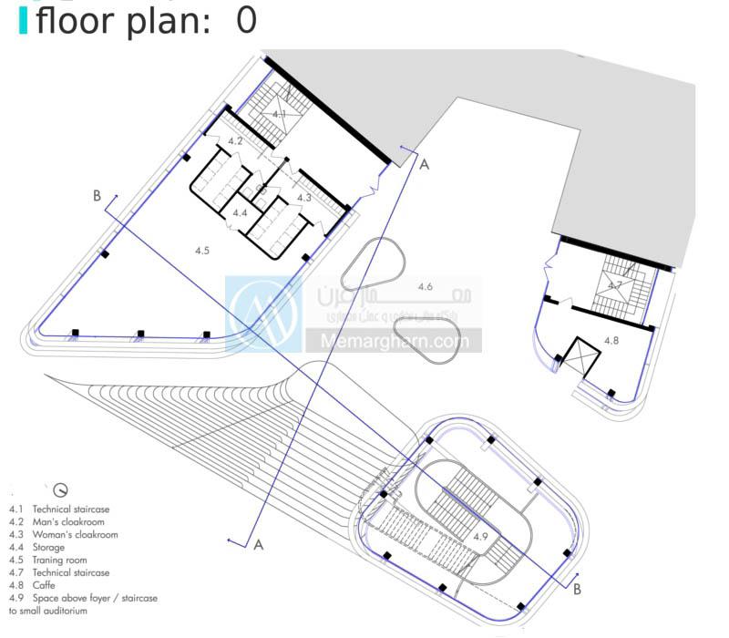 پلان طبقه دوم آکادمی هنرهای موزون