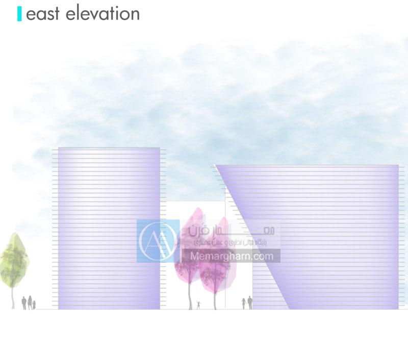 مقاطع معماری پروژه هنرهای موزون