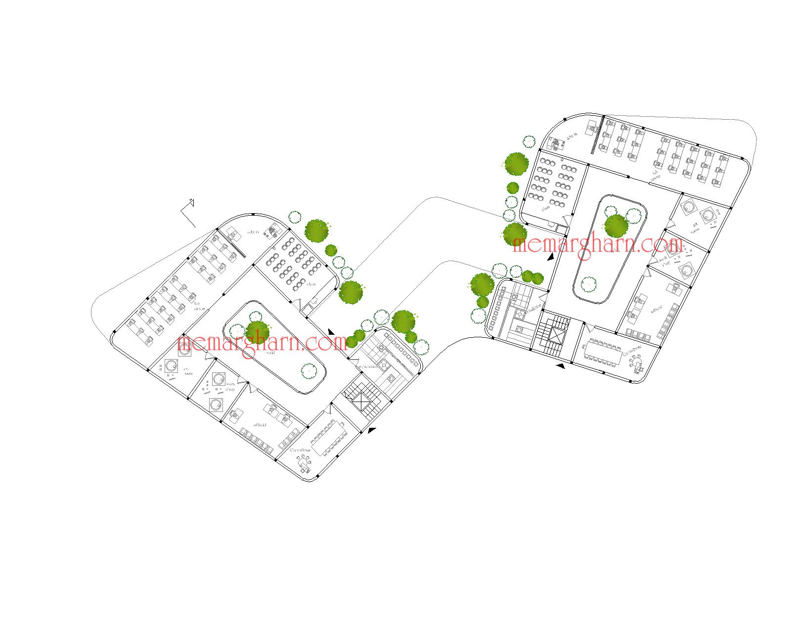 ریز فضاهای طبقه همکف بنیاد نخبگان با رویکرد فضاهای آموزشی