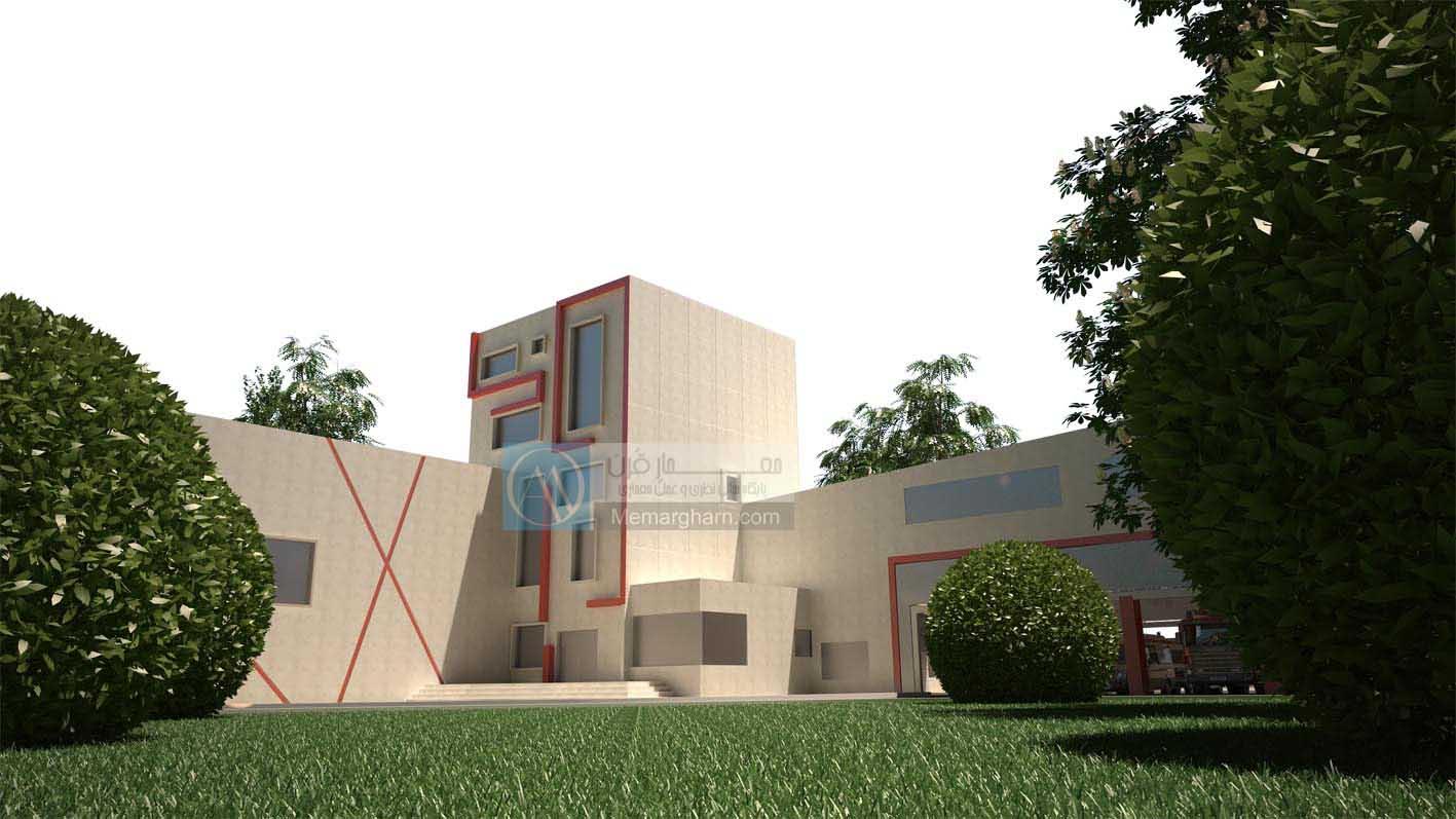 پروژه معماری ایستگاه آتش نشانی