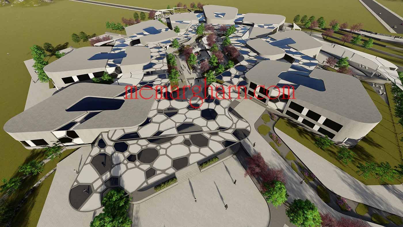 پروژه معماری بنیاد نخبگان و استعداد های درخشان