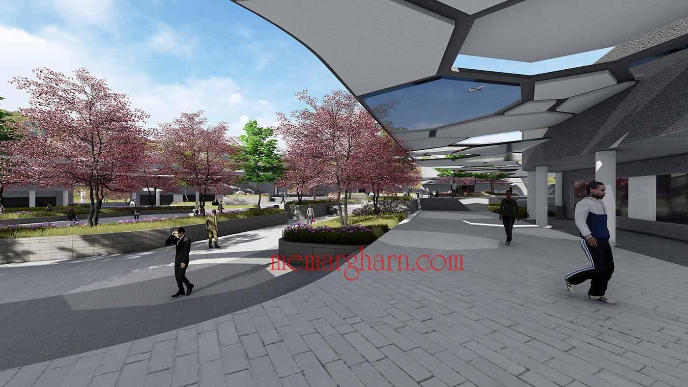 پروژه معماری فضای آموزشی تحقیقاتی