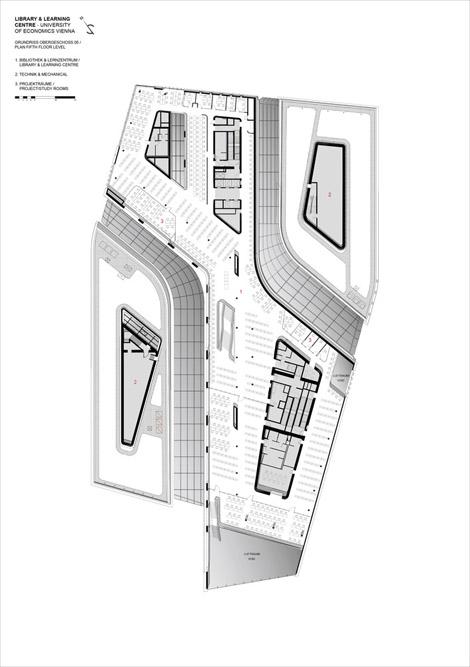 تصویر نقشه های معماری کتابخانه زاحا حدید