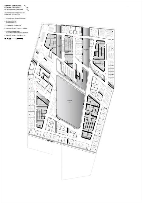 تصویر نقشه های معماری کتابخانه
