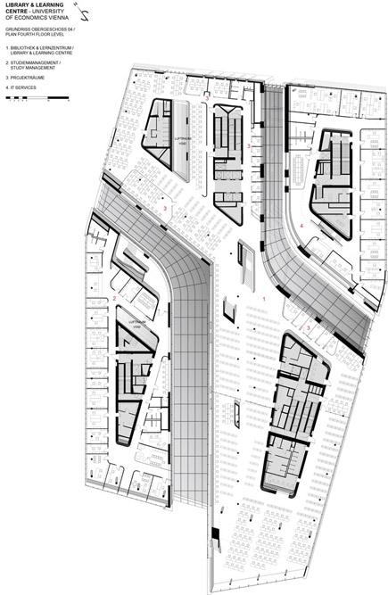 تصویر نقشه معماری کتابخانه