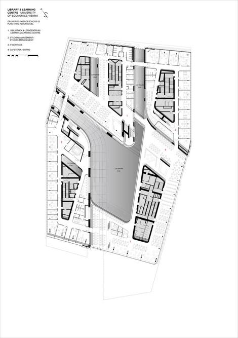 پلان معماری کتابخانه اتریش