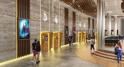 پروژه آماده طراحی معماری سینما