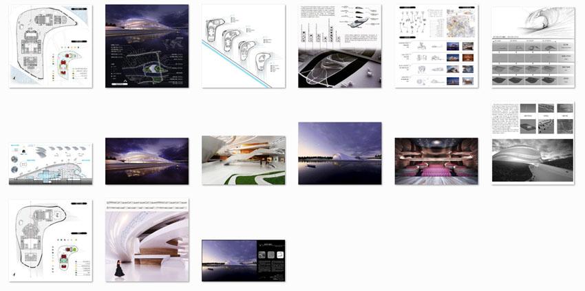 محتویات پروژه معماری مجتمع فرهنگی گردشگری