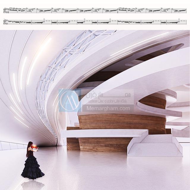 معماری داخلی مجتمع فرهنگی