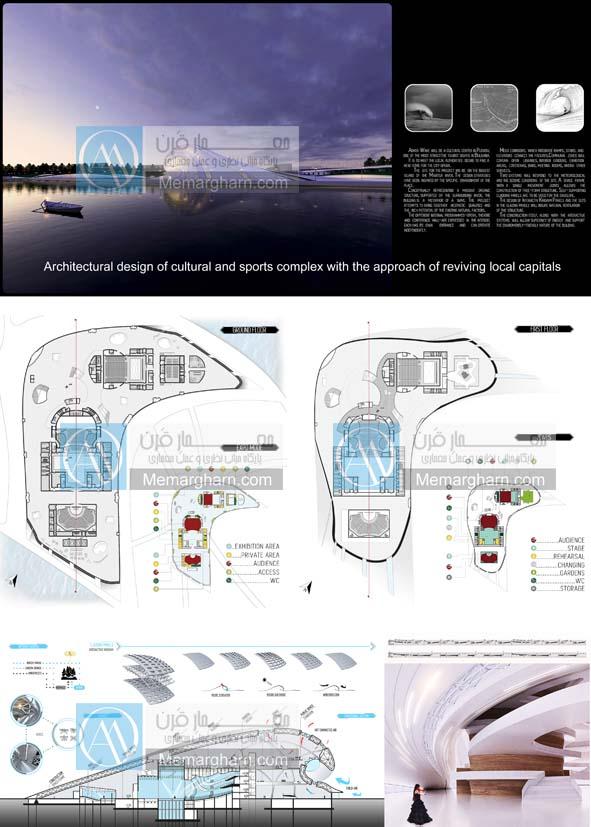 پروژه آماده معماری مجتمع فرهنگی گردشگری