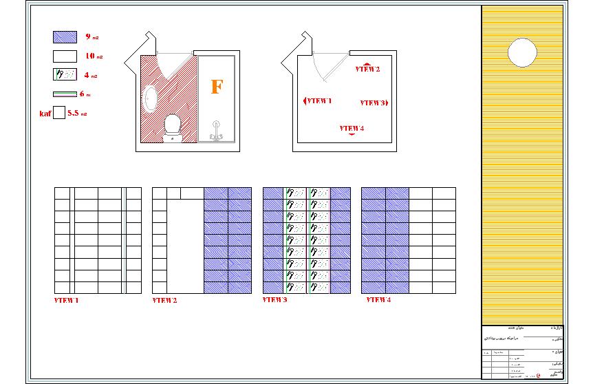 نقشه ساختمانی با عرض 12