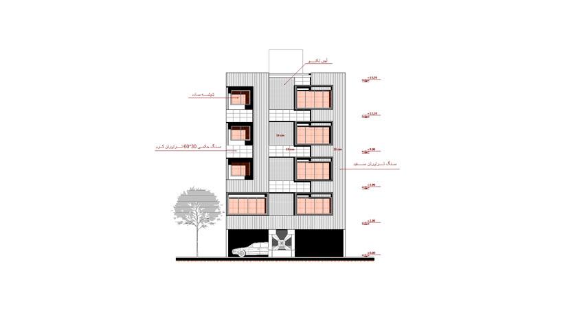 نقشه ساختمان با عرض 10 متر شمالی