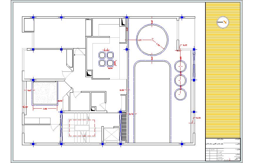 نقشه ساختمان با عرض 12.5