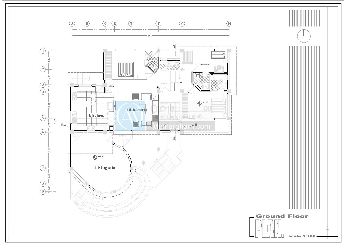 طراحی پلان ویلایی با تمام جزئیات