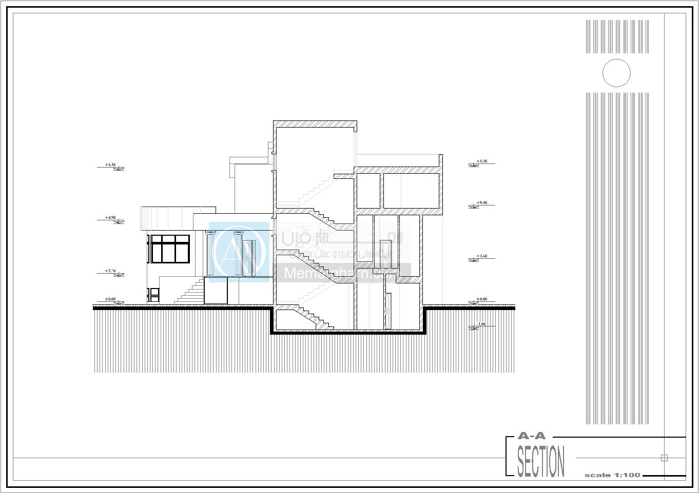 طراحی پلان ویلا سه طبقه