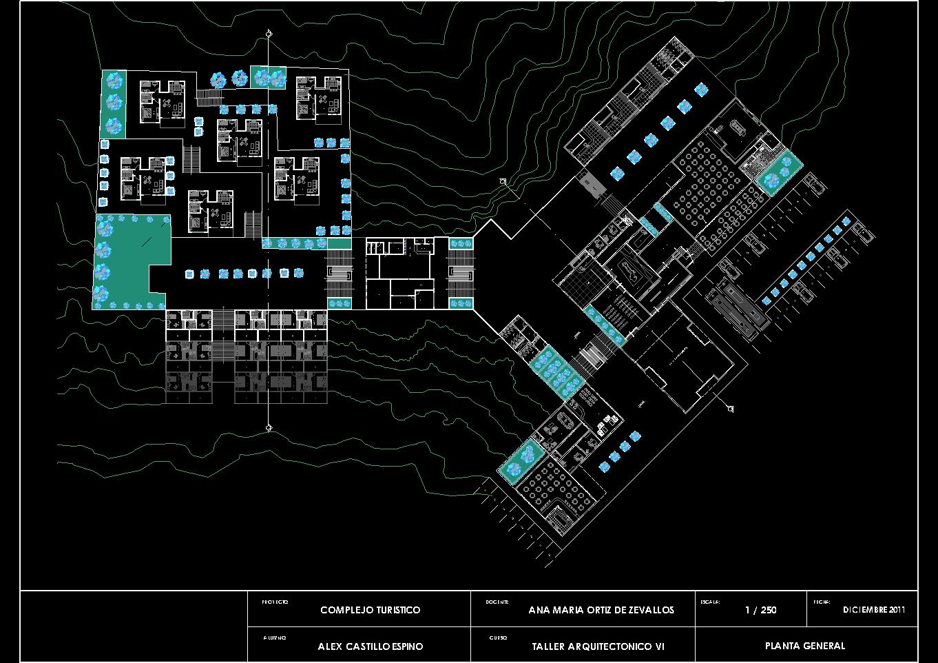 نقشه اتوکد اقامتگاه گردشگری و بوم گردی