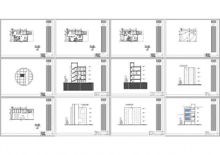 نقشه ساختمان 8*16