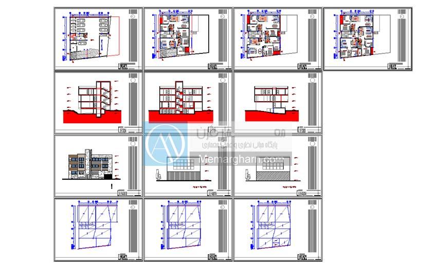 نقشه ساختمان 20*25
