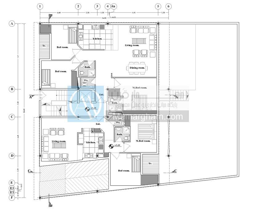 نقشه ساختمان 23*18