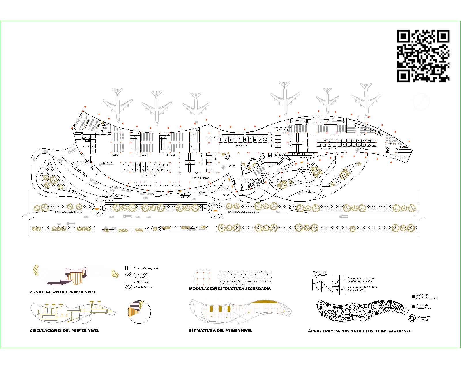 نقشه های معماری فرودگاه