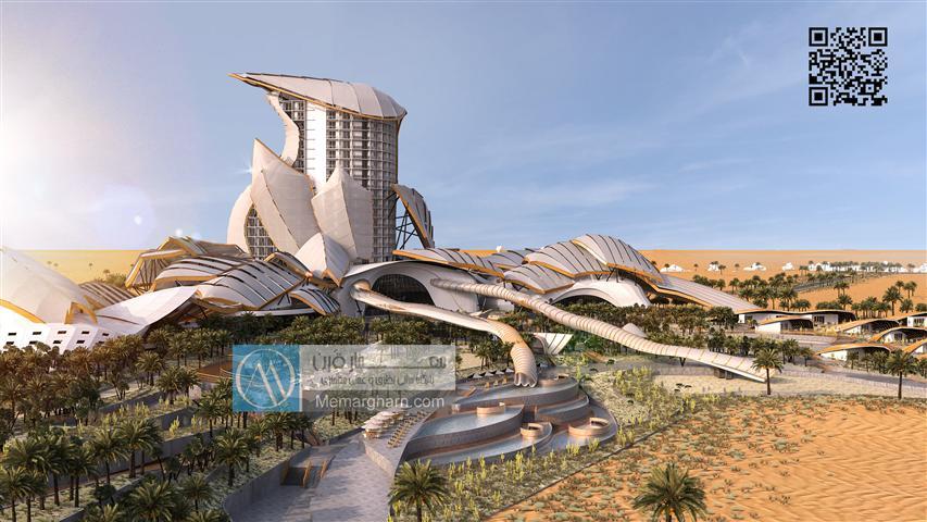 پروژه معماری اقامتگاه بیابانی