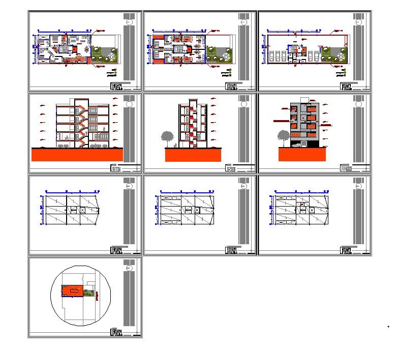 طراحی فاز یک مسکونی عرض 10 متر به همراه مدارک کامل