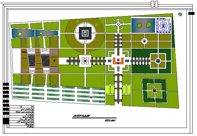 نقشه های معماری باغ موزه