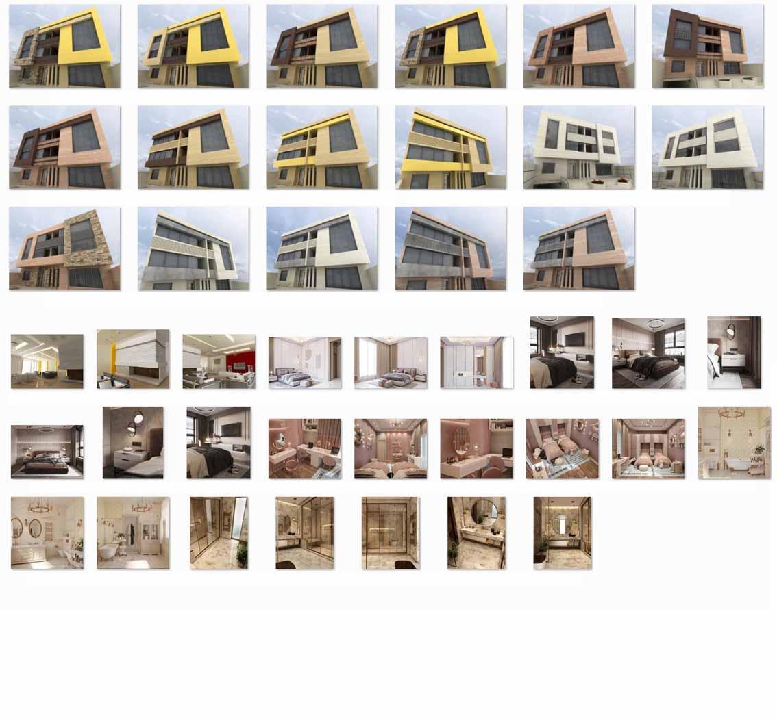 طراحی نمای آپارتمان مدرن با هزینه کم